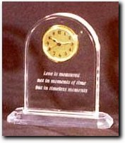 Custom Acrylic Clock Award