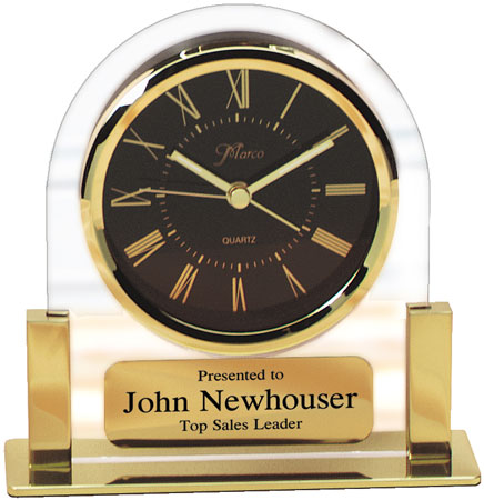 Acrylic Clock Award