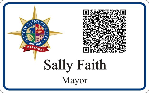 QR Code Nametag Badge