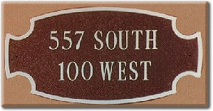 Aluminum Address Sign Plaque