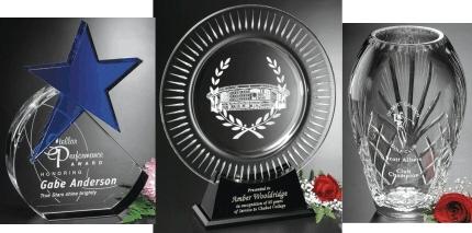 Engraved Crystal D Crystal Awards