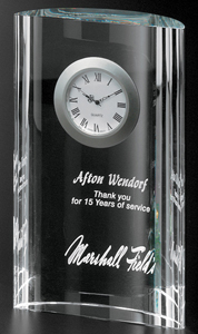 Crystal D Glass Clock Award