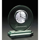 Engraved Glass Clock Award