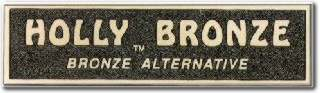 Cast Holly Bronze Plaque