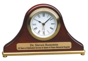 Engraved Desk Clock