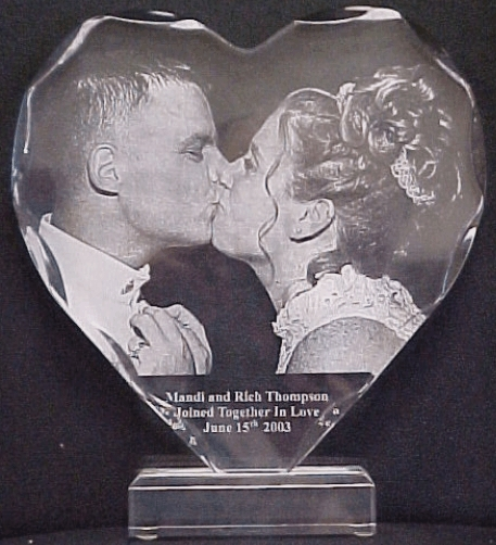 Acrylic Heart Engraving