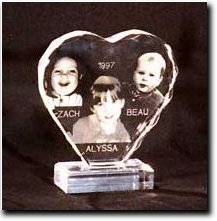 Photo Acrylic Heart Engraving