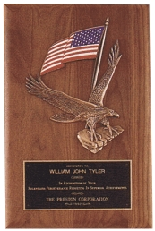 Engraved Eagle Plaque Award