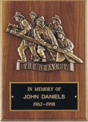 Engraved Firefighter Casting Plaque