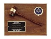Engraved gavel Plaque Award