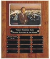 Walnut Laser engrave photo perpetual plaque award
