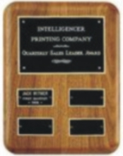 Walnut laser engrave perpetual plaque award