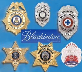 Blackinton Fire and Police Badges